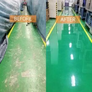Self Leveling Before and After